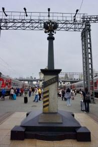 9.288 Kilometer Transsibirische Eisenbahn