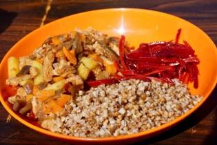 Vegetarisches Essen in der Mongolei