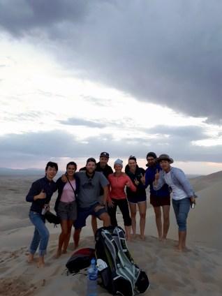 Touristen an den singing dunes