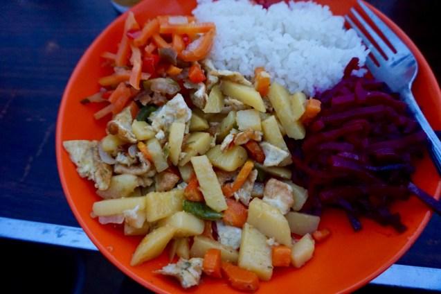 Mittagessen in der Mongolei