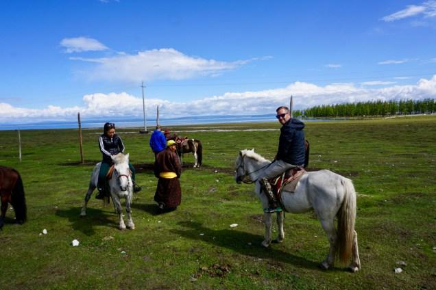 Pferdeausritt am See