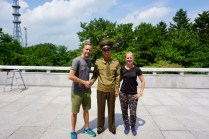Gruppenbild an der Korea-Grenze