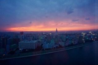 Sonnenuntergang in Nordkorea