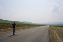 Asphaltierte Straße durch Gobi