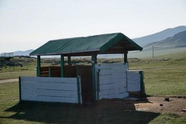 Toilettenhaus in der Mongolei