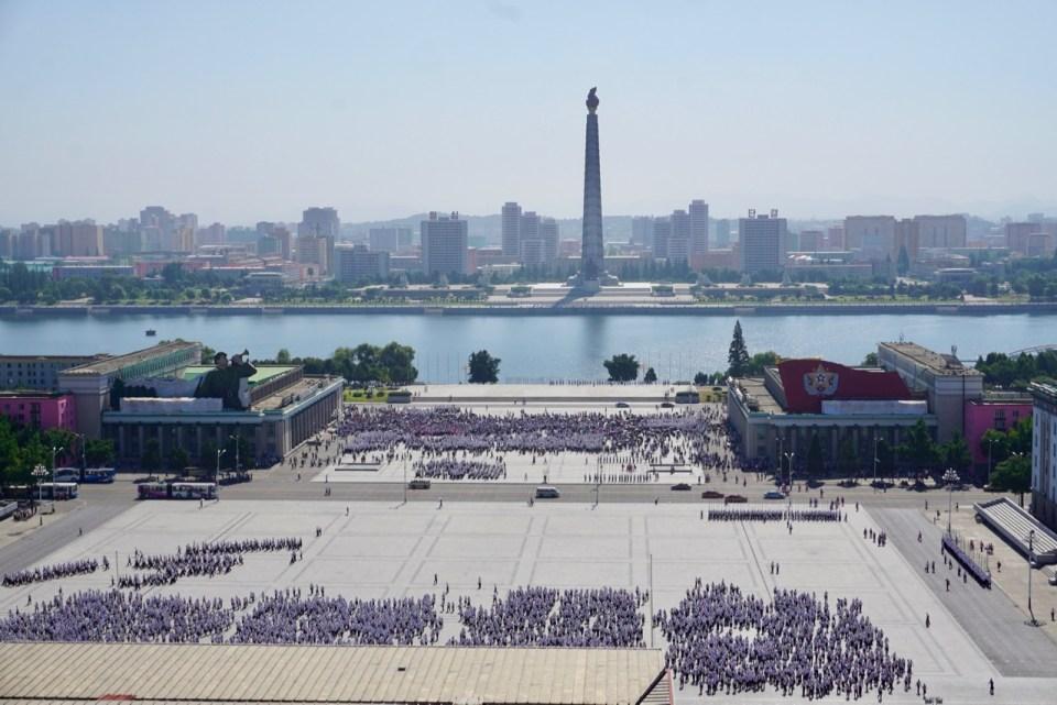 Nordkorea ist bekannt für seine Paraden