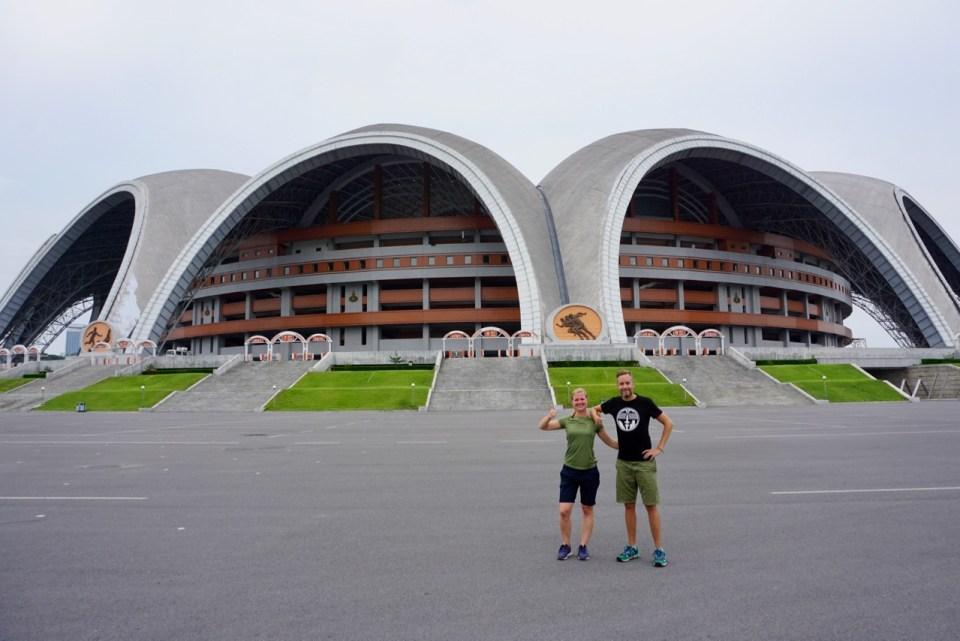 Fußballstadion in Nordkorea