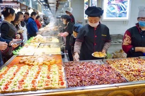 Gegrilltes Essen in Yunnan