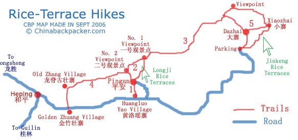 Reisterrassen in China