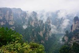 Wolken im Zhangjiajie