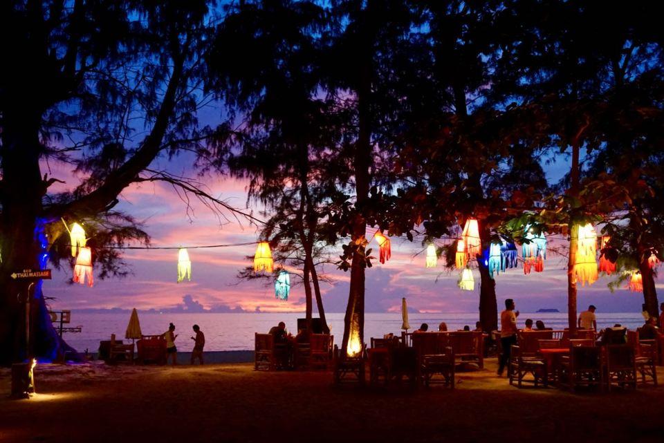 Abendbeleuchtung am Long Beach