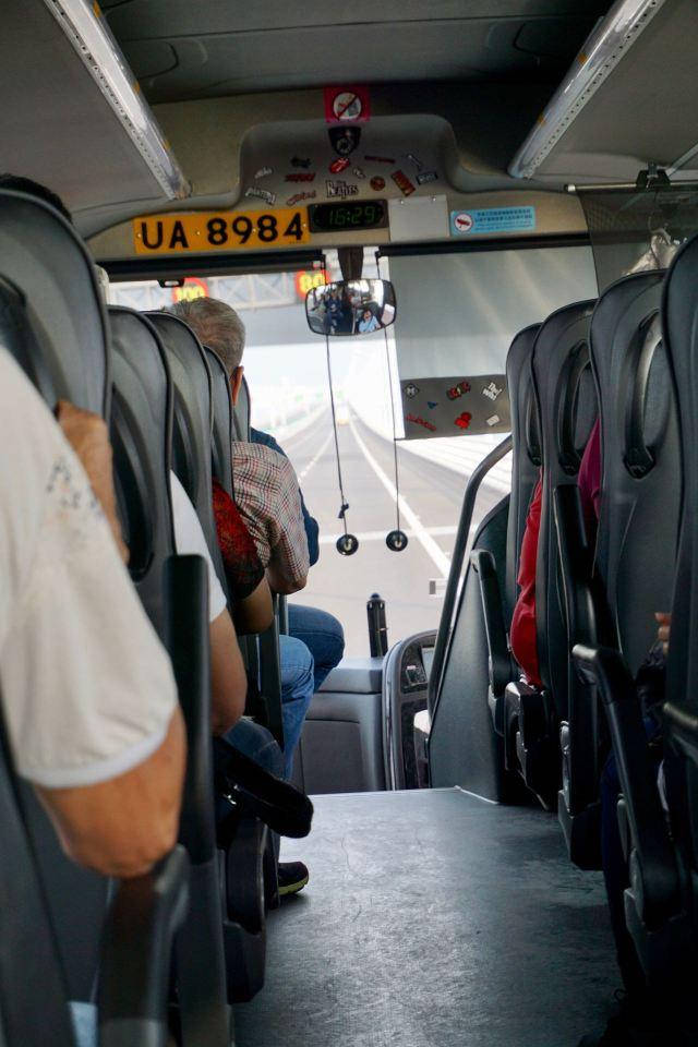 Bus von Macau nach Hongkong