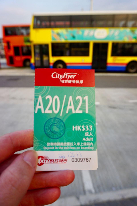 Hongkong Flughafen-Bus