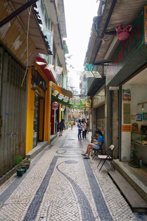Fußgängerzone in Macau