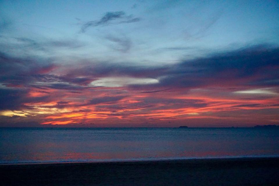 Nachthimmel am Long Beach