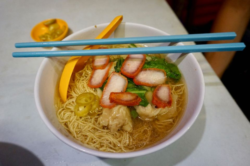 Chinesische Nudelsuppe in Malaysia