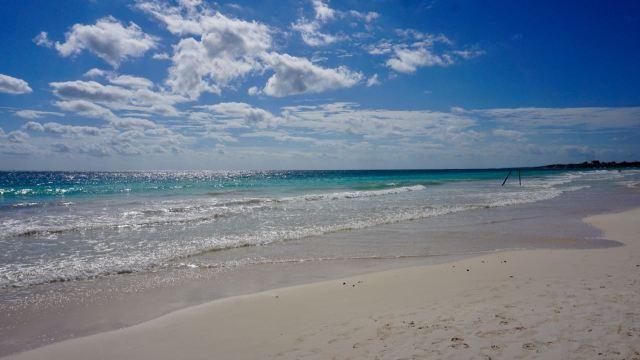 Strand im Januar