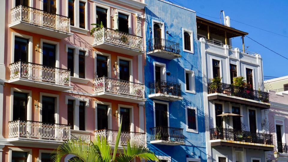 Bunte Häuser auf Puerto Rico