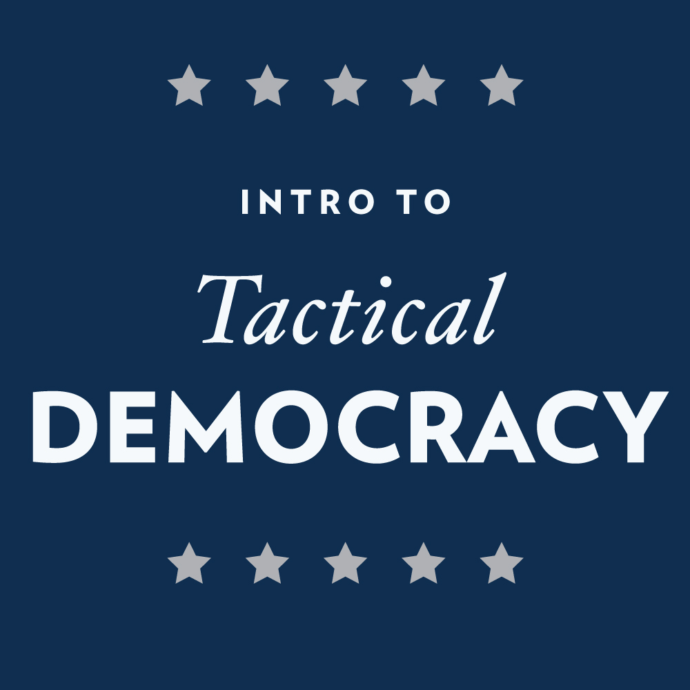 Intro to Tactical Democracy: Design Doing for the Public Sector