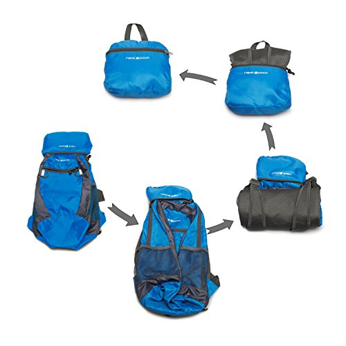 NeatPack-Durable-Foldable-Nylon-Backpack-Daypack-with-Security-Zippers-20L-0-3