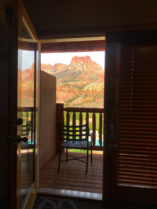 VIEW OUT BALCONY DOOR FROM MAJESTIC VIEW LODGE