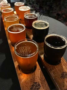 A Flight at Big Slide Brewery
