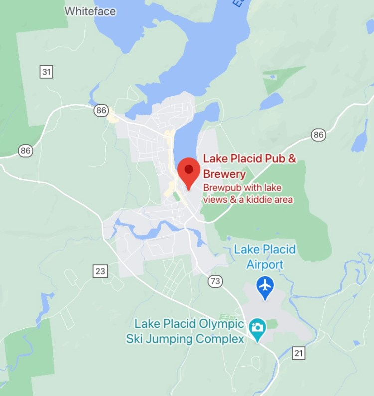 Lake Placid Pub & Brewery Location