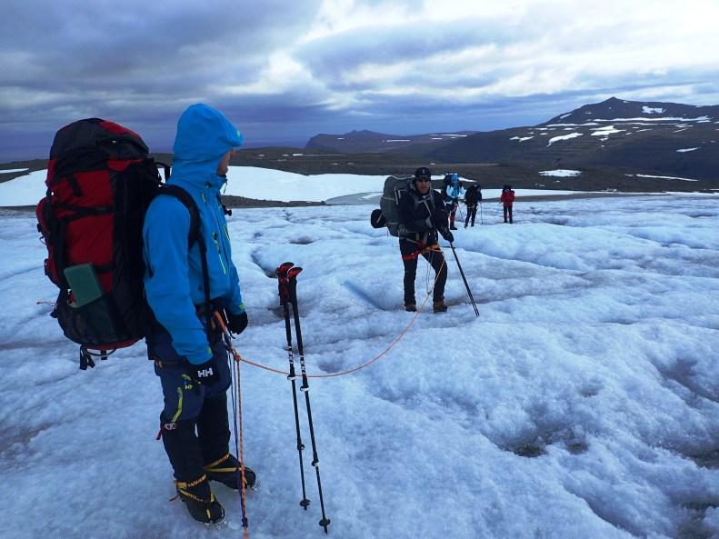 Podejście na lodowcu Drangajokull.