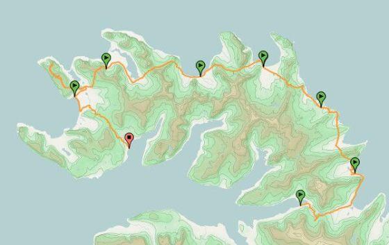 Wyznaczone miejsca biwakowe w parku narodowym Hornstrandir.