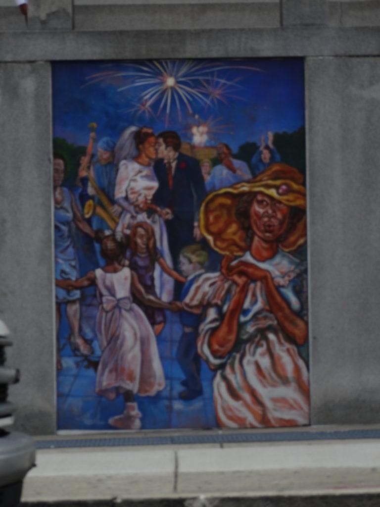 Fresque murale mariage