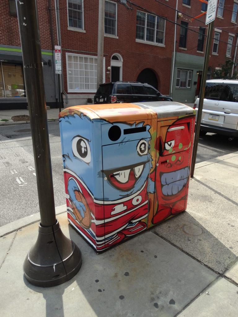 Poubelles tagués Philadelphie