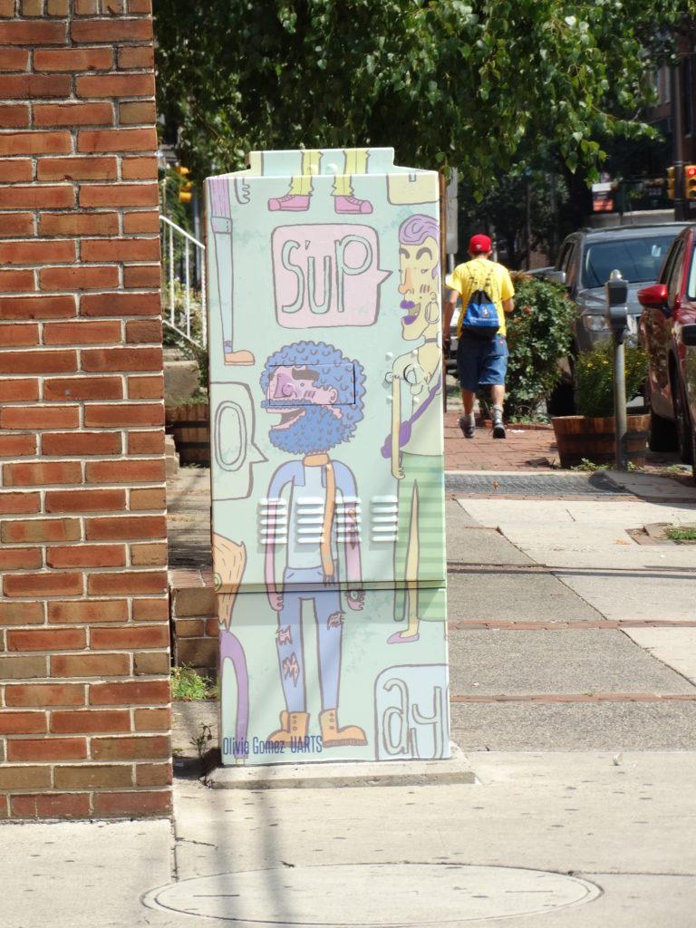 Philly fresque sur boîte postale