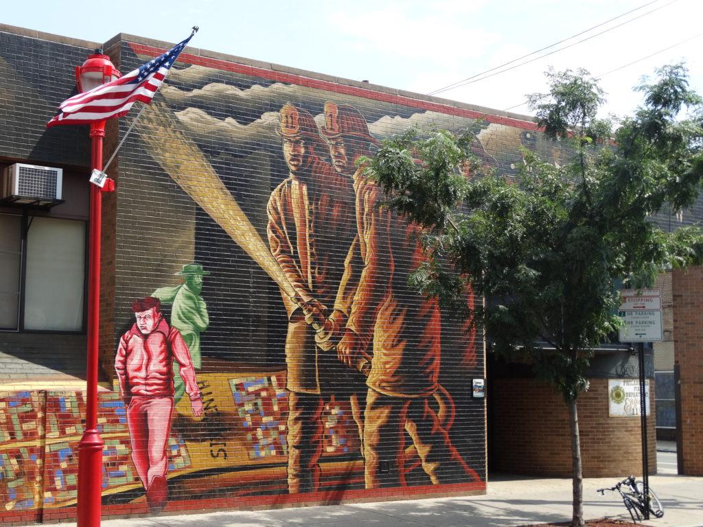 Fresque murale Pompier