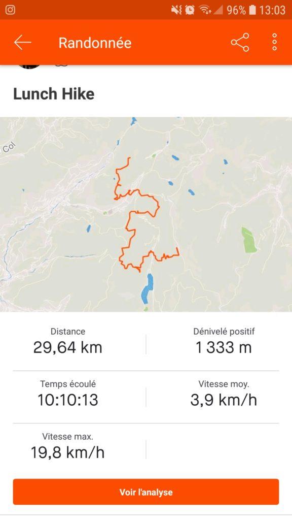Itinéraire jour 2 trek
