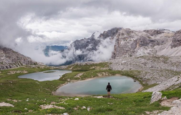 Belle récompense paysage lors de randonnée