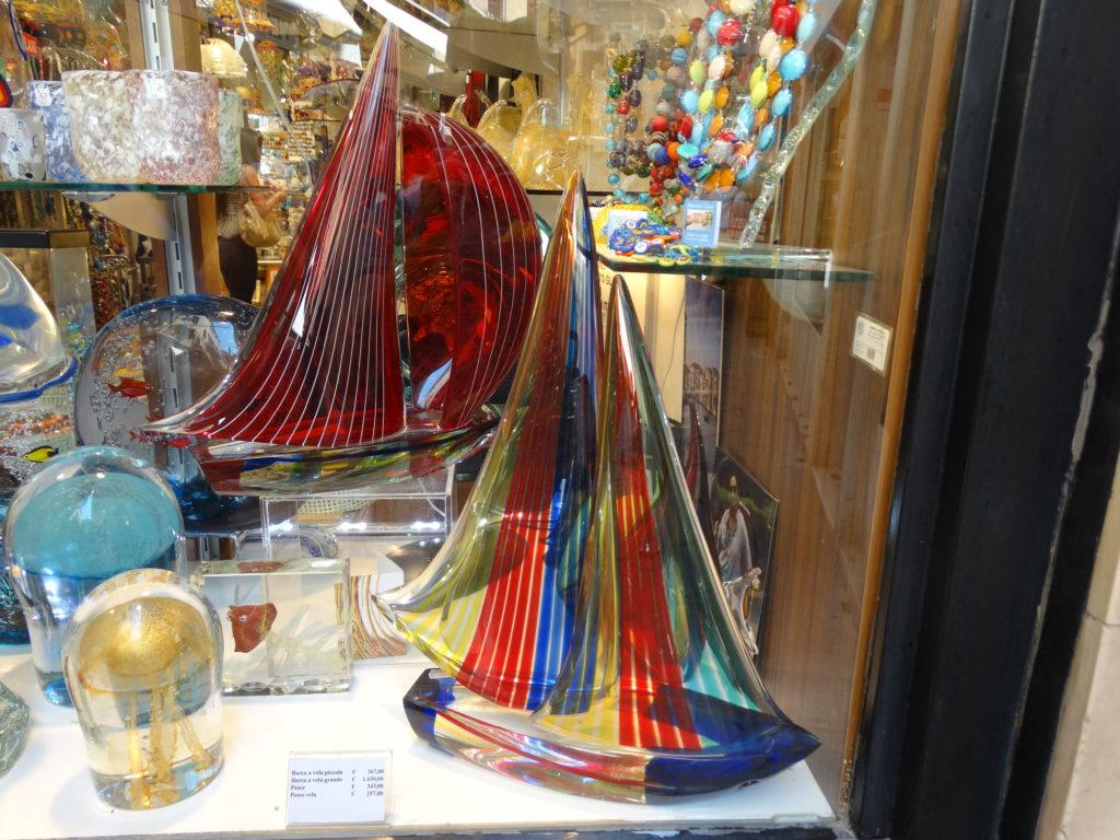 Bateaus en verre de Murano