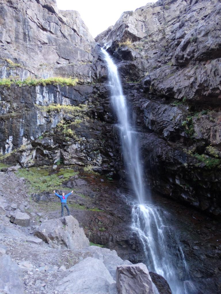 Cascade vers le mont Toubkal