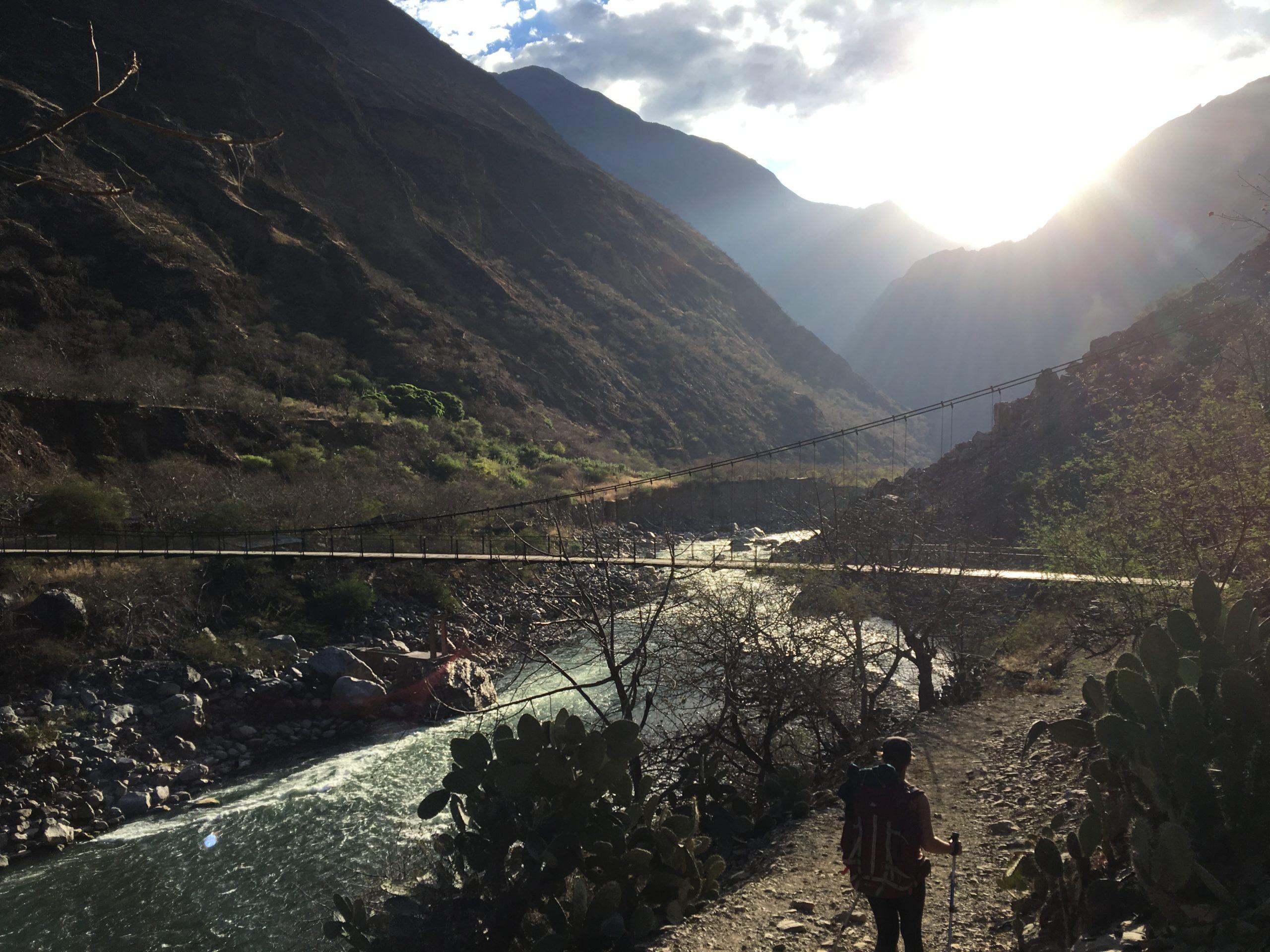 Pont vers Cachora au dessus de l'Apurimac