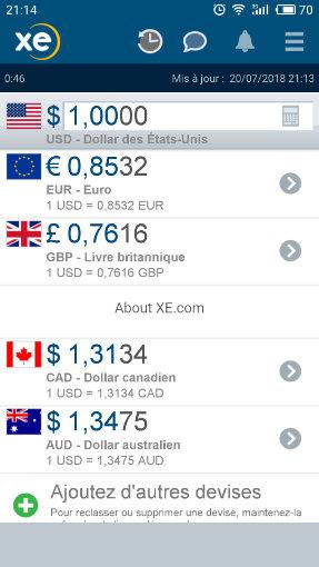 application conversion de devise