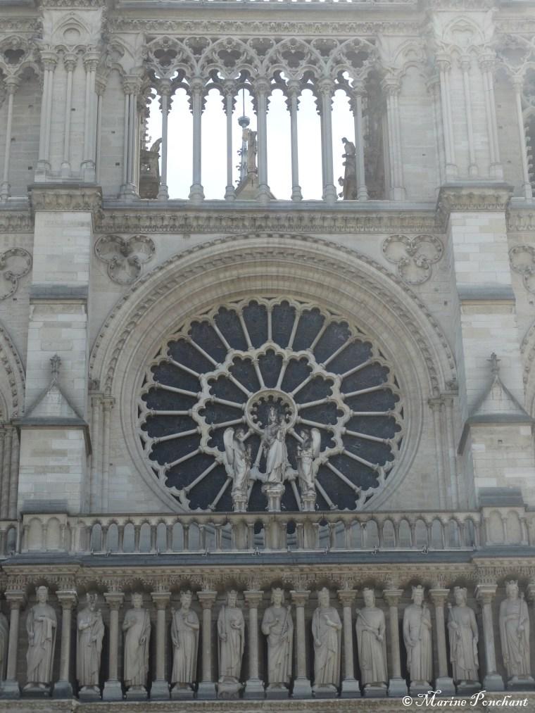 Façade porte principale de la cathédrale Notre-Dame