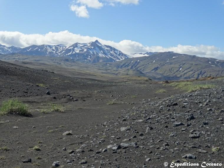 Désert de cendres, Laugavegur, Islande