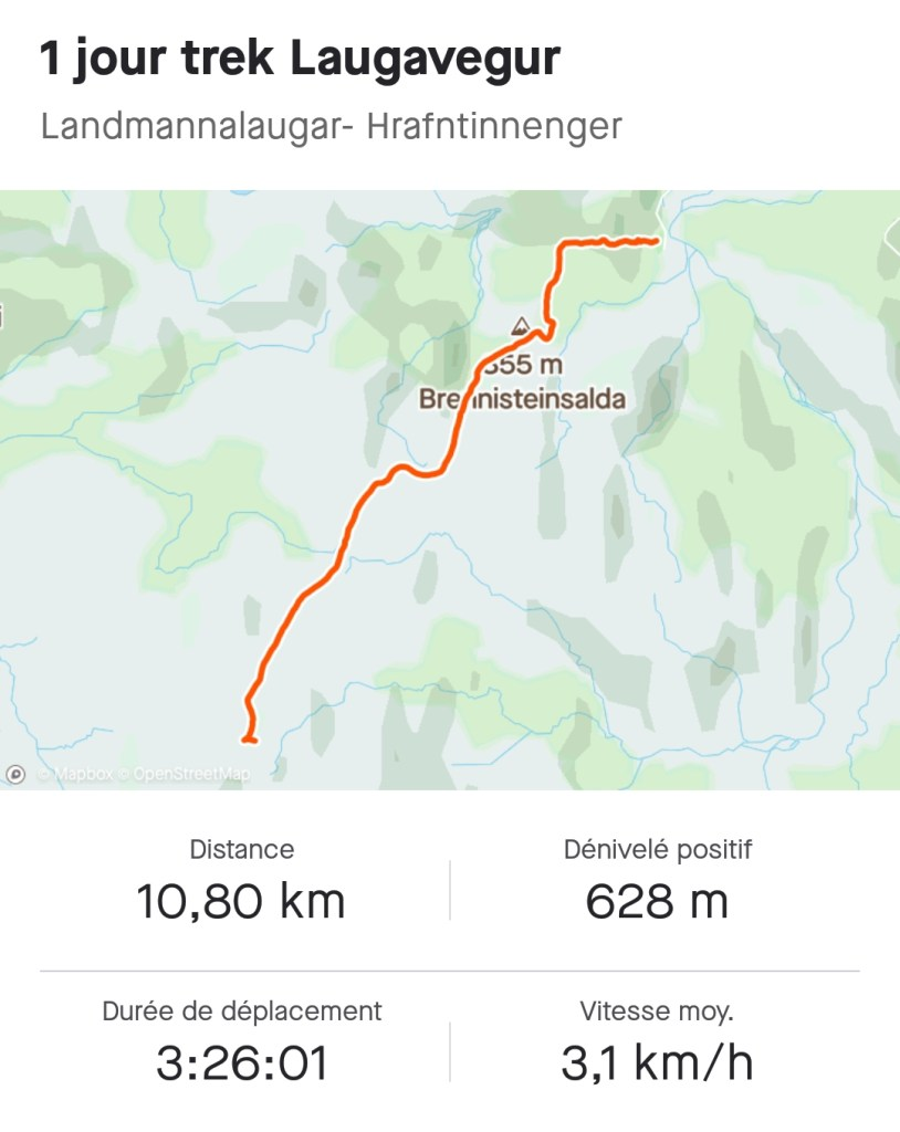 Maps 1er jour du trek