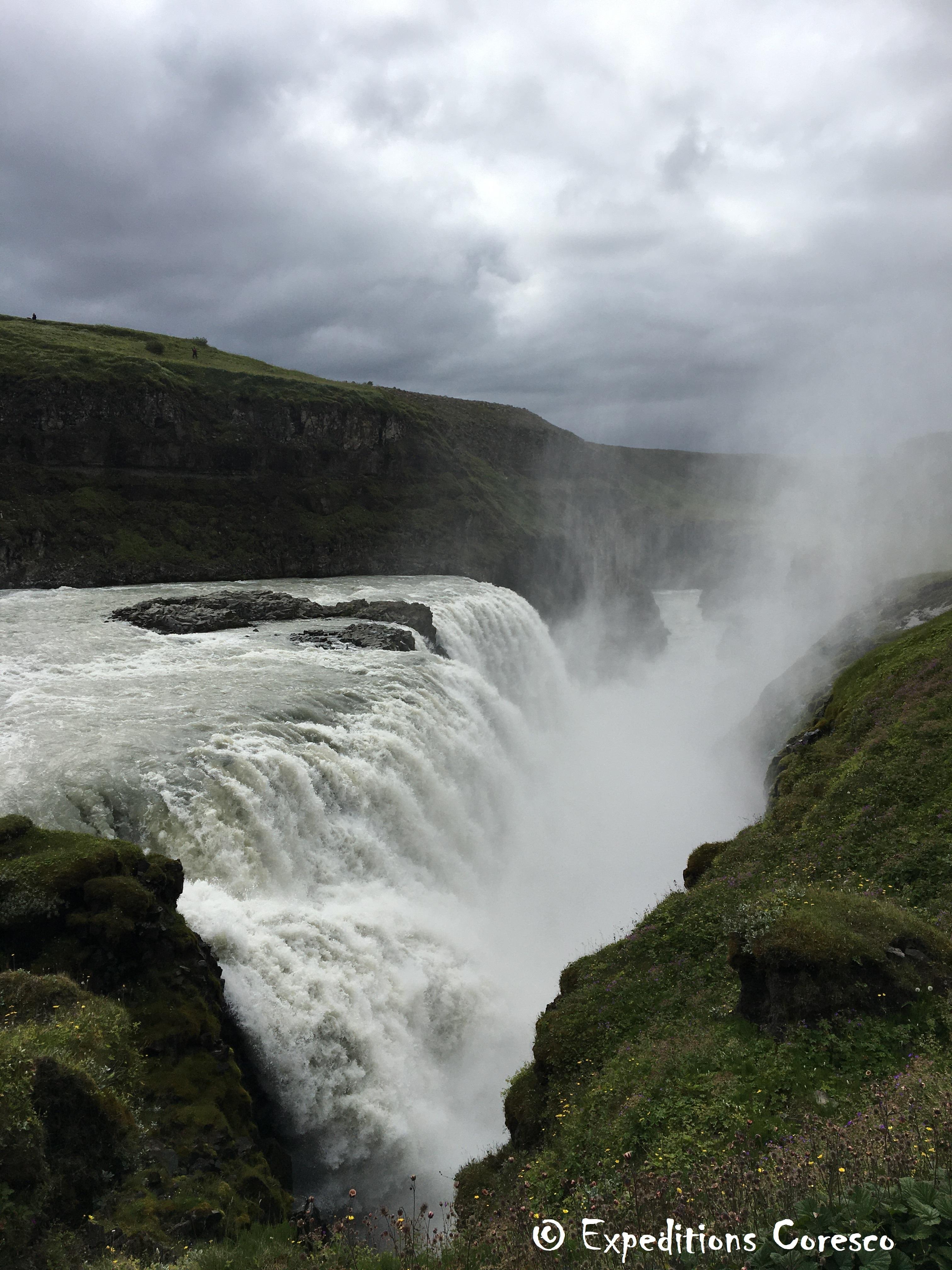 La fosse de la cascade Gullfoss, Islande