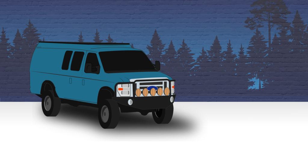 E350 4x4 conversion illustration based on a sportsmobile