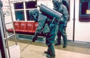 20 Mar 1995 --- SARIN GAS ATTACK IN TOKYO METRO --- Image by © CORBIS SYGMA