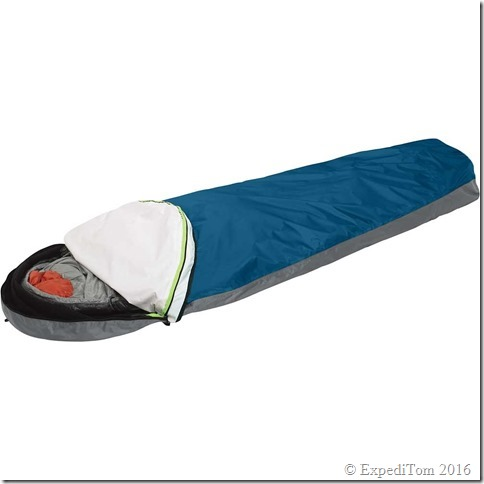 Fully open Outdoor Research Aurora bivouac sac