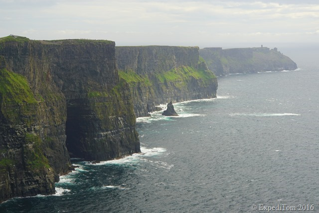 Closer view of the Cliffs of Moher