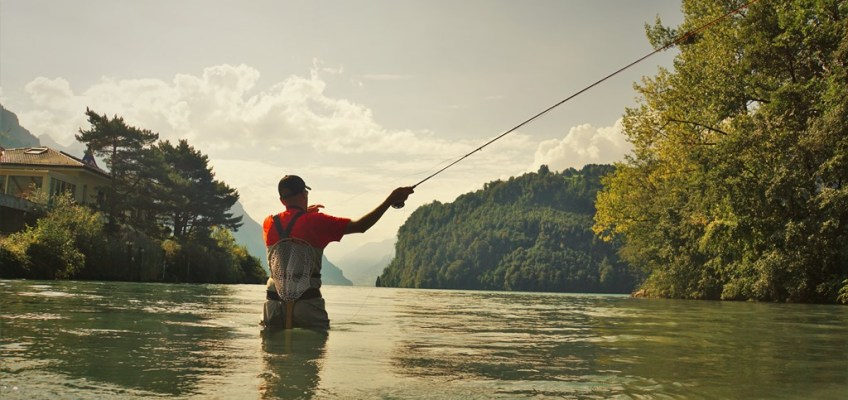 Fly fishing in Schwyz with Claudio