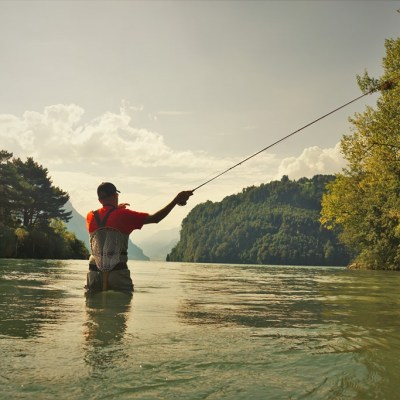 Fly fishing in Schwyz with Claudio