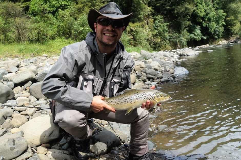 Tom from ExpediTom fly fishing in New Zealand - 2016 an eventful year in retrospection